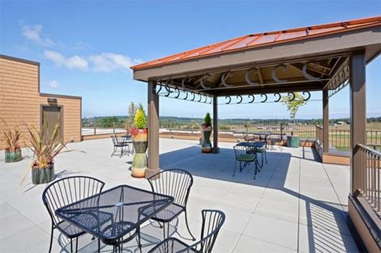 Holiday Inn Express Hotel & Suites North Sequim-Rooftop Courtyard and garden<br/>Image from Leonardo