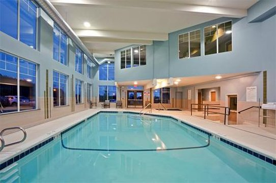 Holiday Inn Express Hotel & Suites North Sequim-Swimming Pool with fitness room above<br/>Image from Leonardo