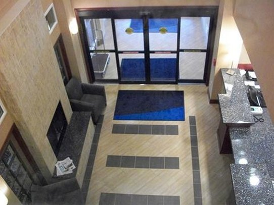 Holiday Inn Express Hotel & Suites North Sequim-Front Desk from 2nd floor view in Sequim hotel<br/>Image from Leonardo