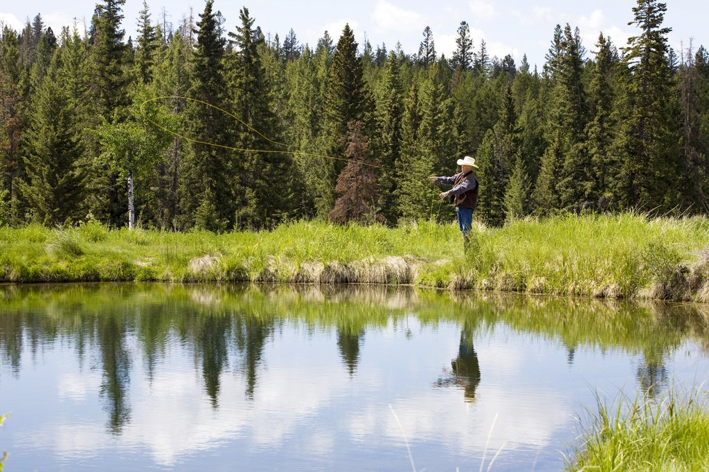 Echo Valley Ranch & Spa-Fly-Fishing on the Ranch's private ponds<br/>Image from Leonardo