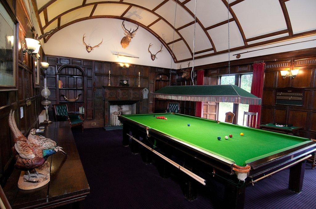 Barcaldine Castle-Barcaldine Snooker Room<br/>Image from Leonardo