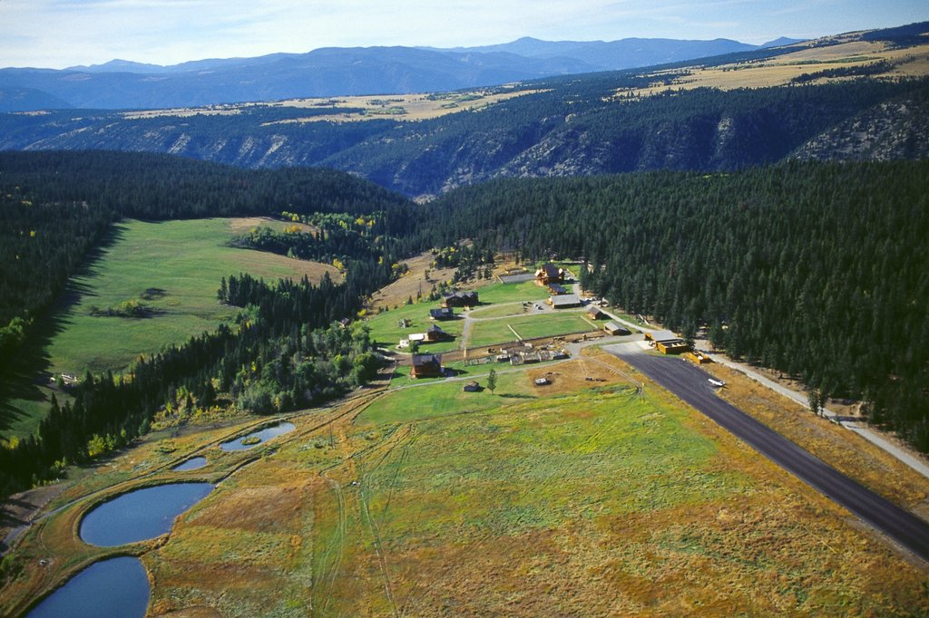 Echo Valley Ranch & Spa-Ariel View Of Ranch Looking West<br/>Image from Leonardo