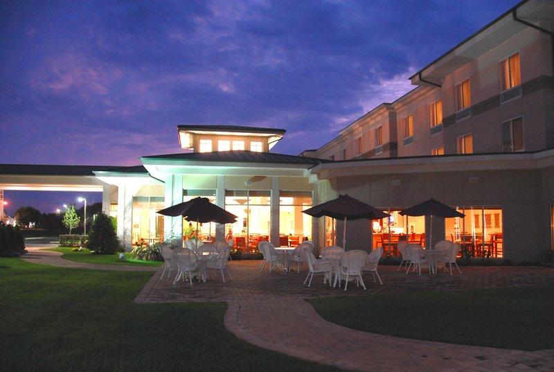 Hilton Garden Inn Riverhead-Patio Area<br/>Image from Leonardo