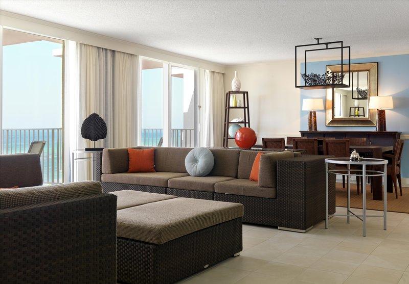 Hilton Rose Hall Resort & Spa  - Prime Minister Suite Living Space <br/>Image from Leonardo