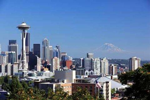 DoubleTree by Hilton Hotel Seattle Airport-Seattle Skyline<br/>Image from Leonardo