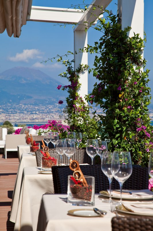 Grand Hotel Vesuvio Naples-Caruso Roof Garden Terrace<br/>Image from Leonardo