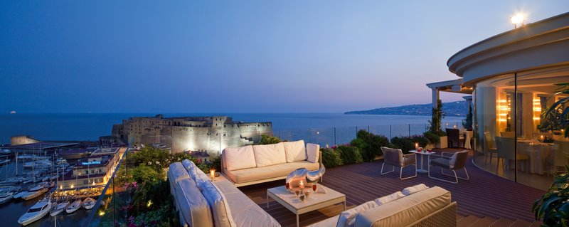 Grand Hotel Vesuvio Naples-Caruso Roof Garden Before Dinner<br/>Image from Leonardo