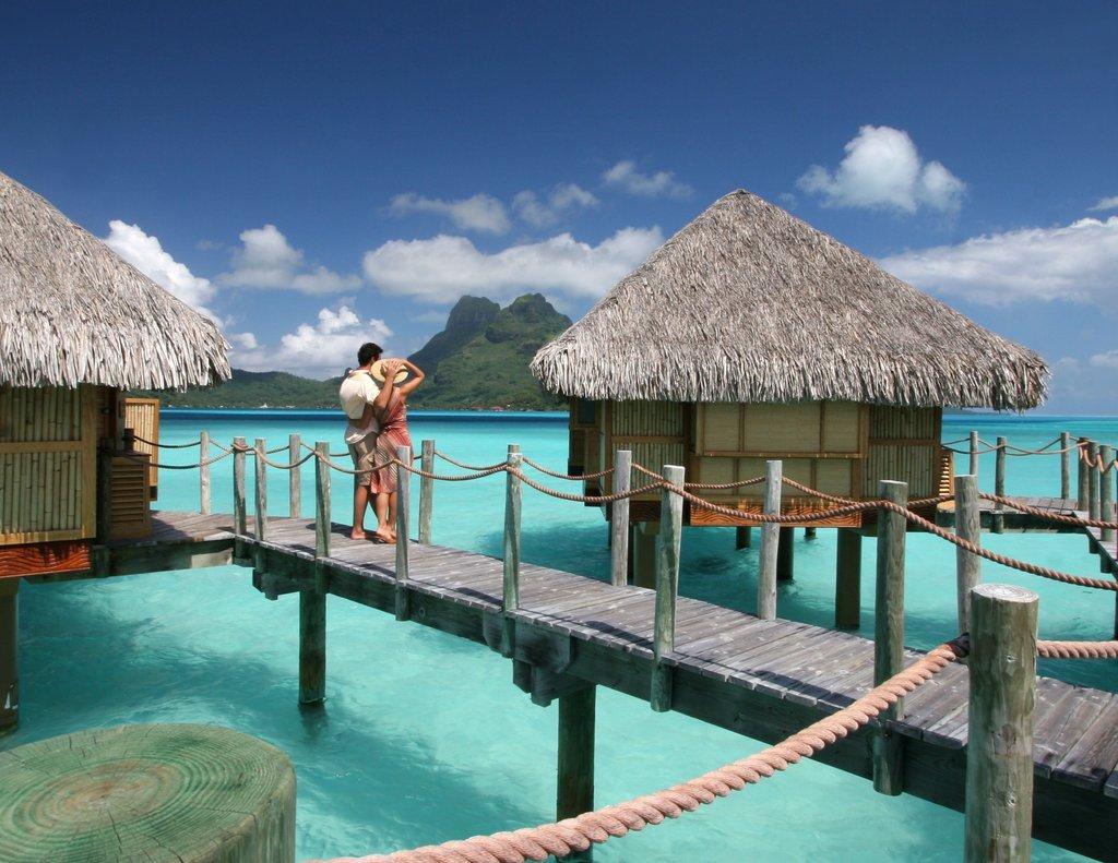 Bora Bora Pearl Beach Resort-Couple On Pontoon<br/>Image from Leonardo