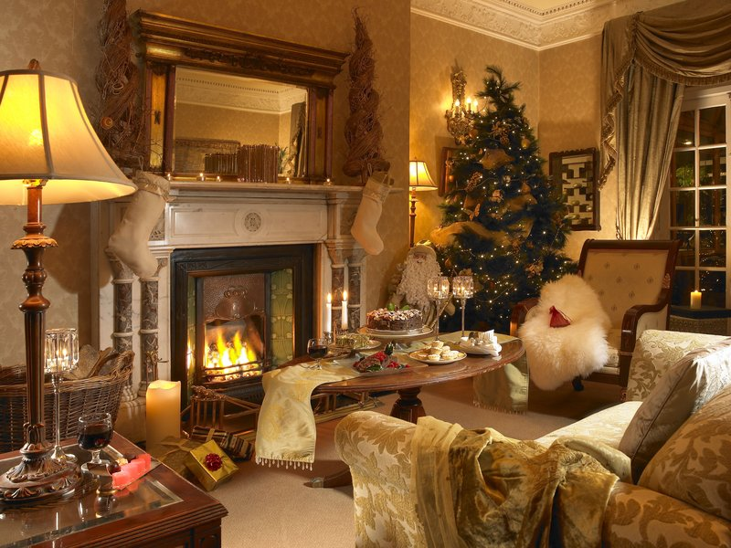 Hayfield Manor-Drawing Room at Christmas<br/>Image from Leonardo