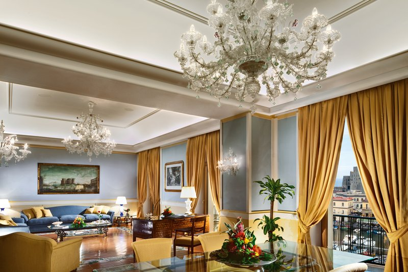 Grand Hotel Vesuvio Naples-Presidential Suite Sitting & Dining Room A2S<br/>Image from Leonardo