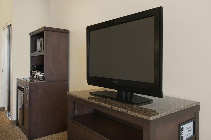 Hilton Garden Inn San Bernardino-In Room Television<br/>Image from Leonardo