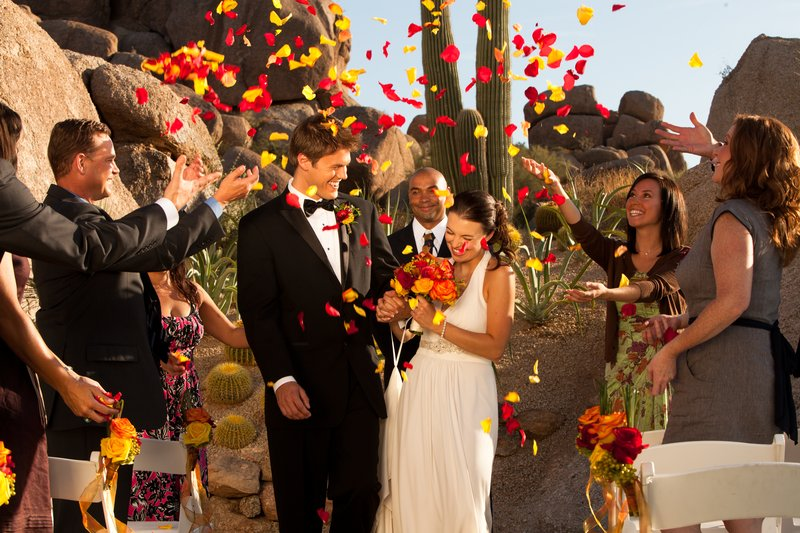 Boulders Resort & Spa, Curio Collection by Hilton-Wedding At The Rock<br/>Image from Leonardo
