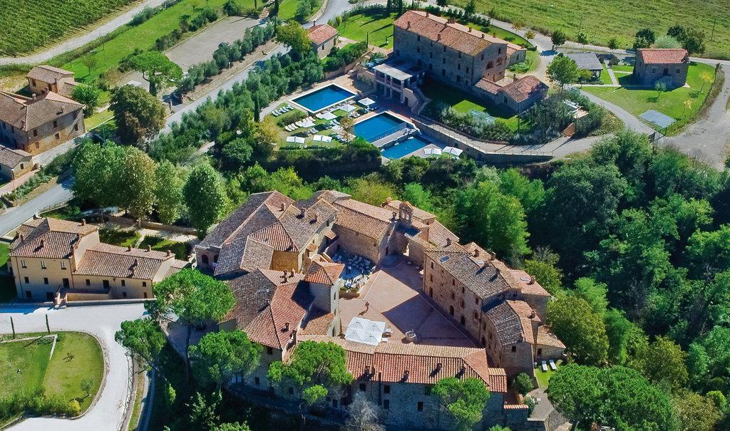 Castel Monastero-Aerial view<br/>Image from Leonardo