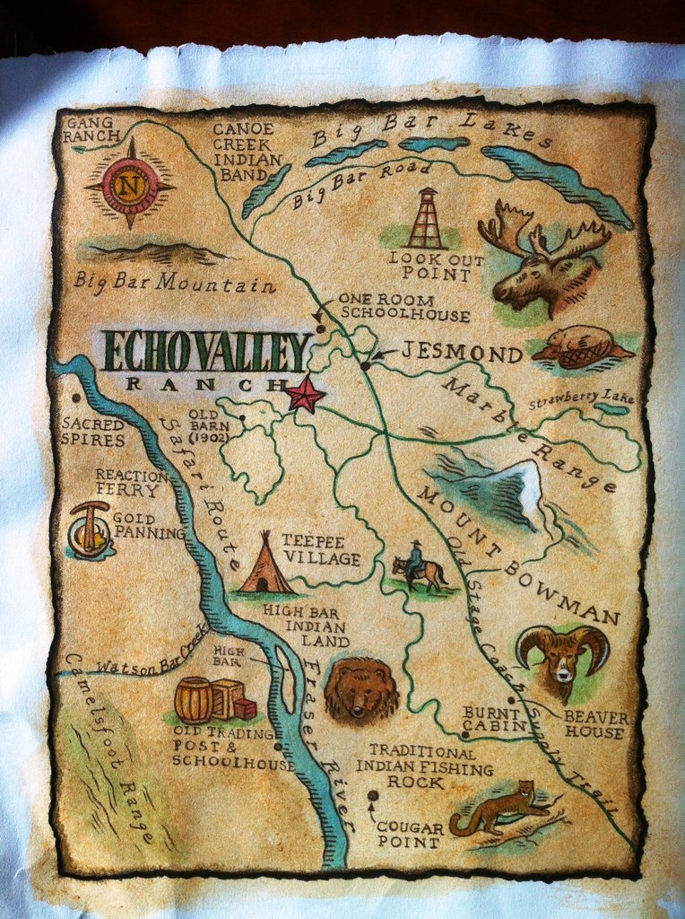Echo Valley Ranch & Spa-Echo Valley Ranch Painted Map<br/>Image from Leonardo