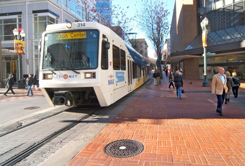 Crowne Plaza Portland-Downtown Conv Ctr-MAX Light Rail Train System: Crowne Plaza Portland<br/>Image from Leonardo