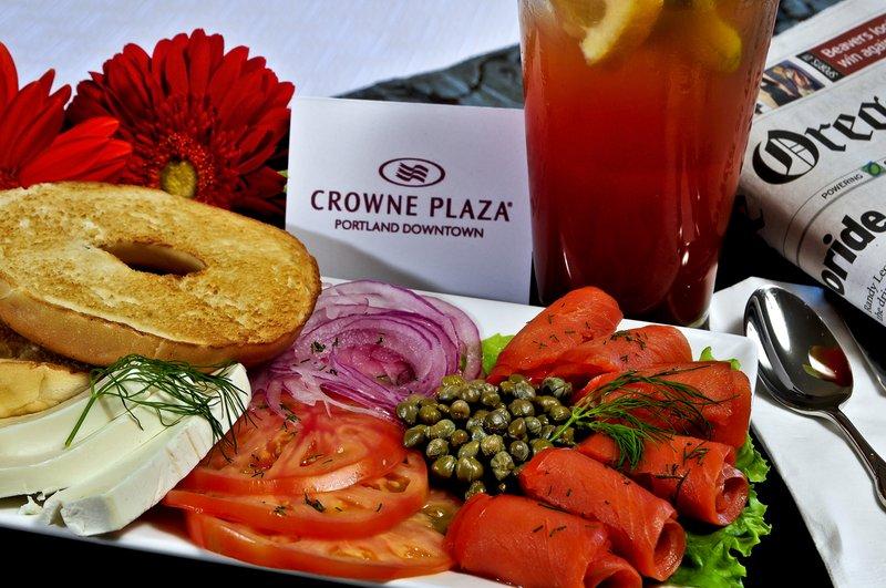 Crowne Plaza Portland-Downtown Conv Ctr-Bagels & Lox: Crowne Plaza Portland Downtown<br/>Image from Leonardo