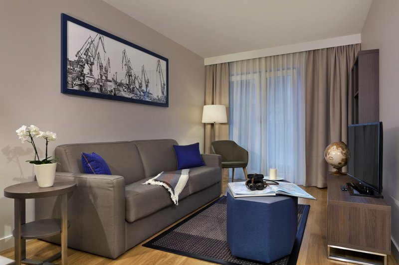 Citadines Michel Hamburg-Living room of 1-bedroom apartment, Citadines Michel Hamburg<br/>Image from Leonardo