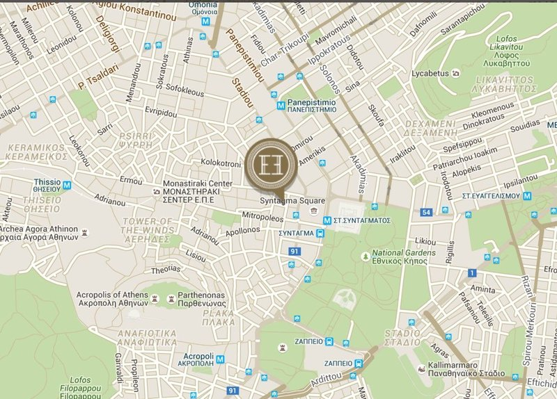 Electra Hotel - Map <br/>Image from Leonardo