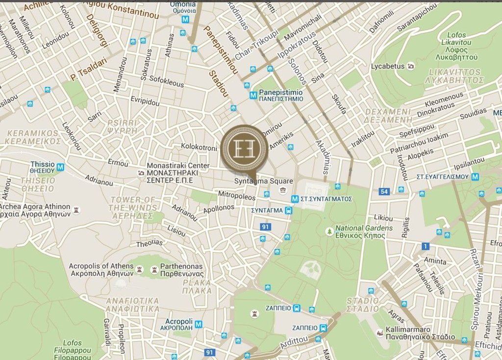 Electra Hotel - Map <br/>Image from Leonardo
