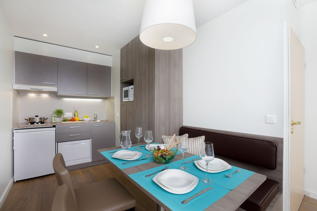 Citadines Toison d'Or Brussels-Kitchen of 1-bedroom apartment, Citadines Toison d'Or Brussels<br/>Image from Leonardo