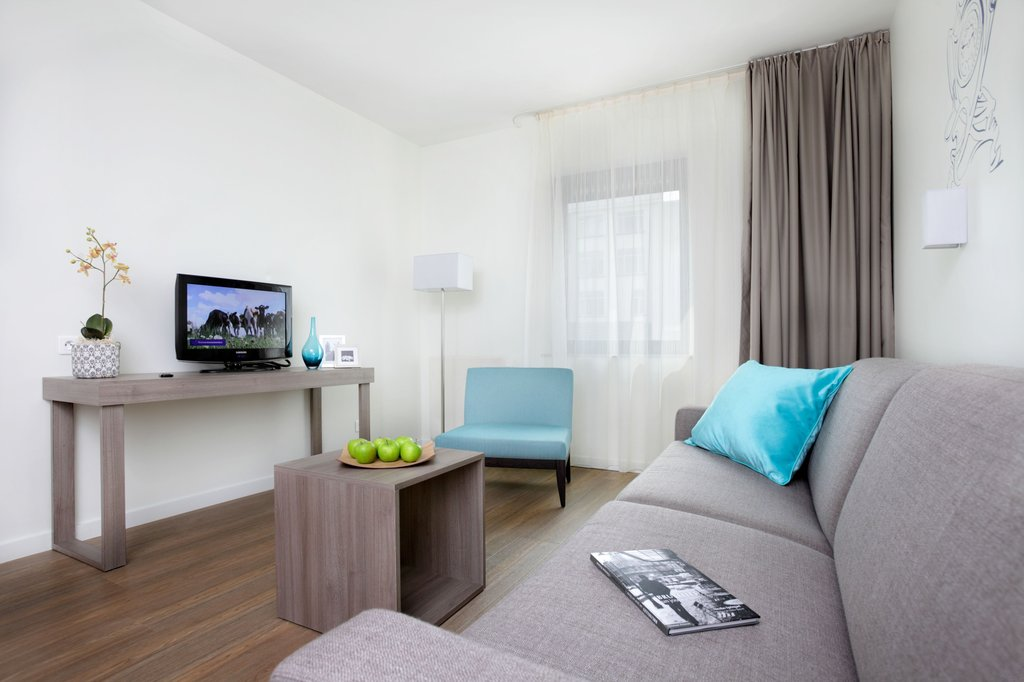 Citadines Toison d'Or Brussels-Living room of 1-bedroom apartment, Citadines Toison d'Or Brussels<br/>Image from Leonardo