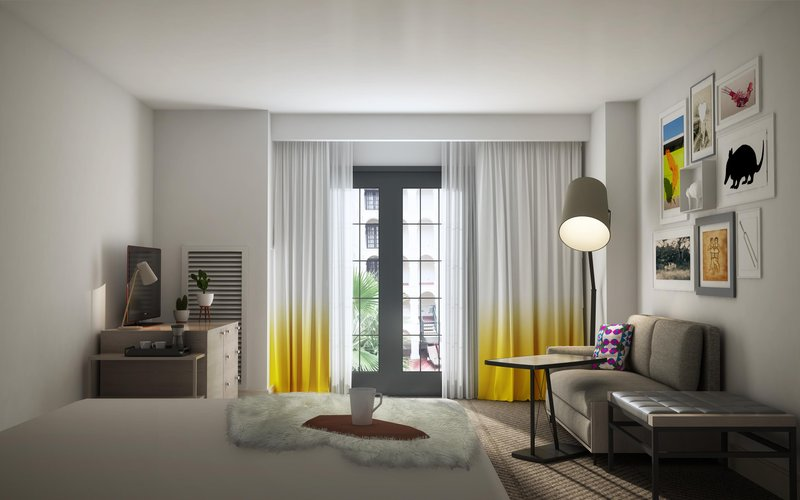 DoubleTree by Hilton Austin-New Guestroom View<br/>Image from Leonardo