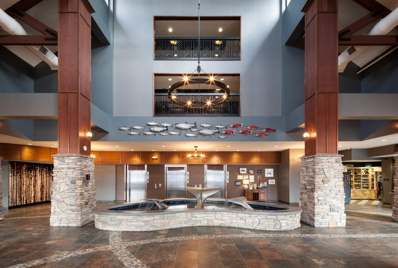 Embassy Suites by Hilton Anchorage-Lobby and Fountain<br/>Image from Leonardo