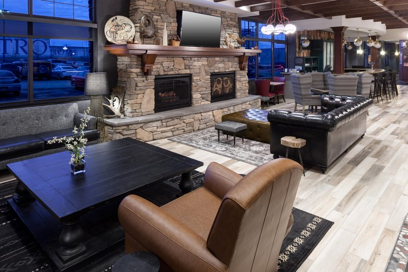 Embassy Suites by Hilton Anchorage-Lobby Lounge and Fireplace<br/>Image from Leonardo