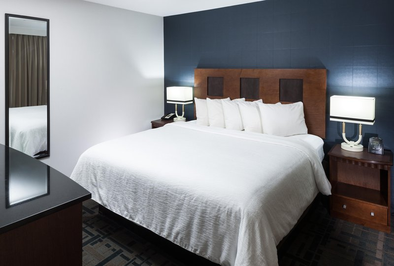 Embassy Suites by Hilton Anchorage-King bed in a suite<br/>Image from Leonardo