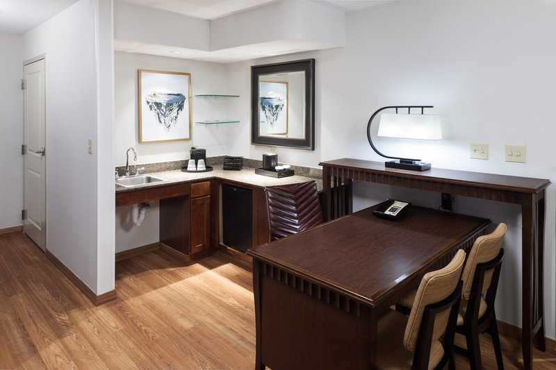 Embassy Suites by Hilton Anchorage-wet bar and fridge<br/>Image from Leonardo