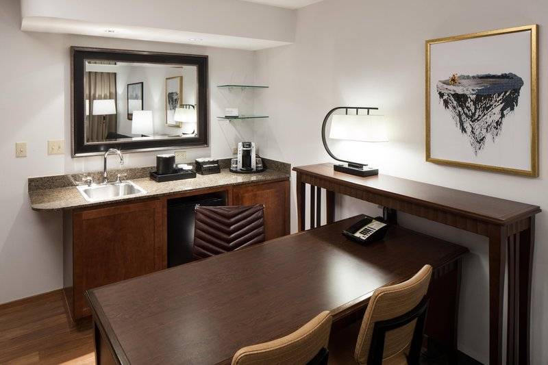 Embassy Suites by Hilton Anchorage-Wet bar and desk<br/>Image from Leonardo