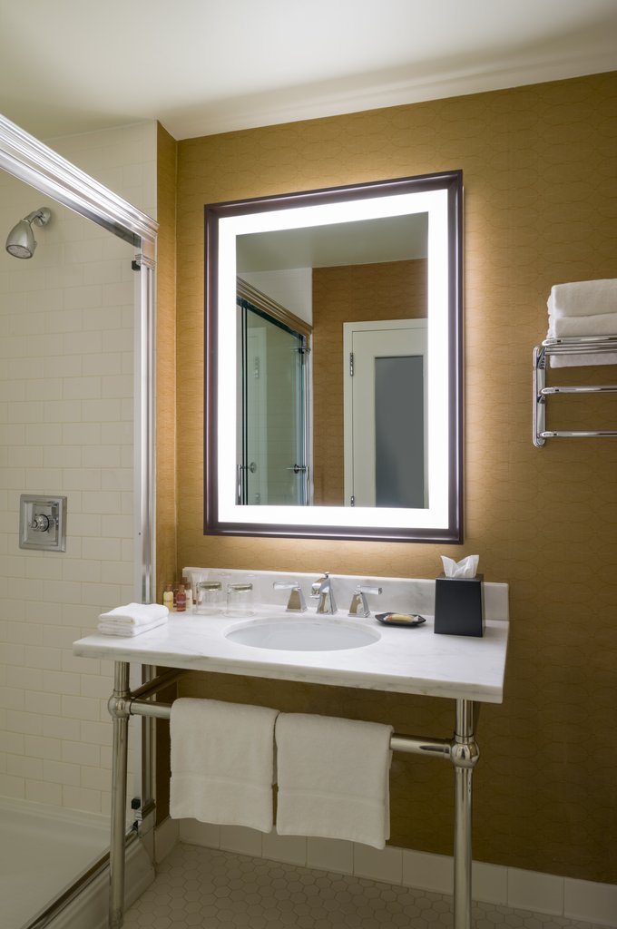 Sheraton JFK Airport Hotel-Guest Bathroom<br/>Image from Leonardo