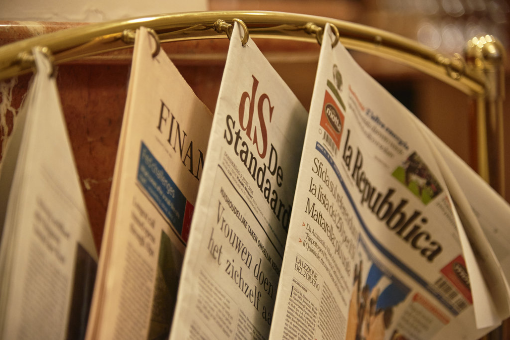 Holiday Inn Brussels - Schuman-Daily newspapers available<br/>Image from Leonardo