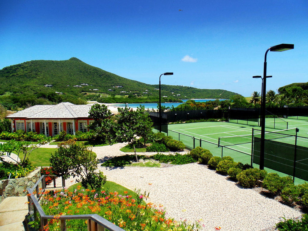 Young  Island  Resort-Tennis Courts<br/>Image from Leonardo