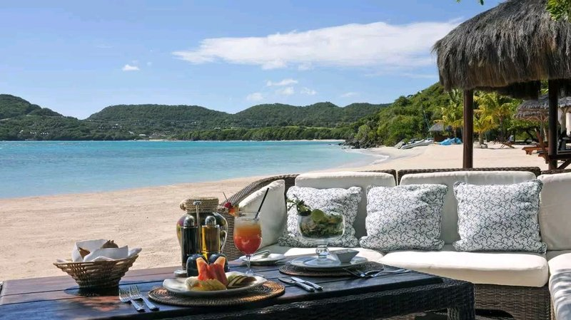Young  Island  Resort-Shell Beach Bar And Grill<br/>Image from Leonardo