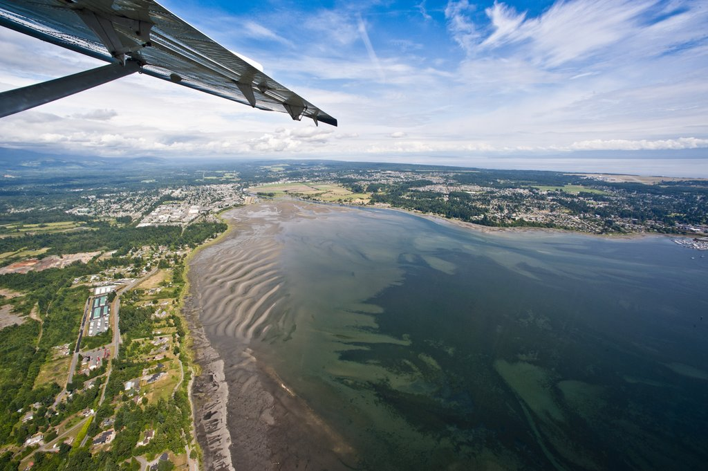 Holiday Inn Express & Suites Courtenay Comox Valley SW-Ariel view of estuary<br/>Image from Leonardo