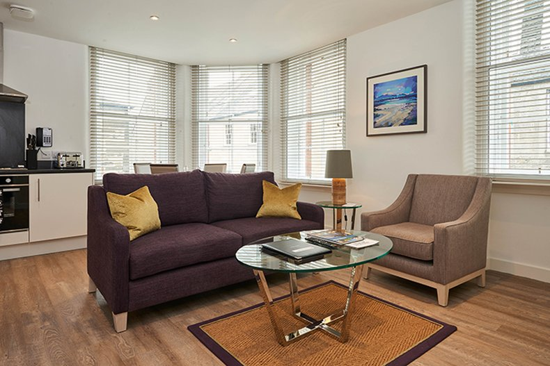 Braid Apartments by Mansley  - 2 Bed Apartment Lounge <br/>Image from Leonardo