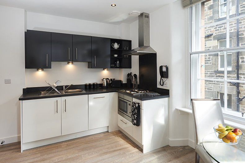 Braid Apartments by Mansley  - 1 Bed Apartment Kitchen <br/>Image from Leonardo