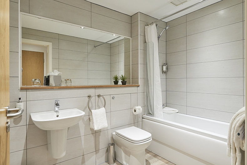 Braid Apartments by Mansley  - Typical Bathroom <br/>Image from Leonardo