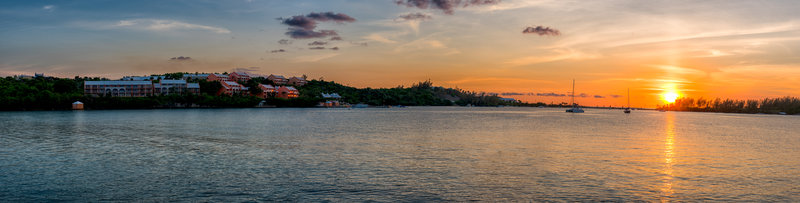 Grotto Bay Resort-Grotto Bay Sunset Pano<br/>Image from Leonardo