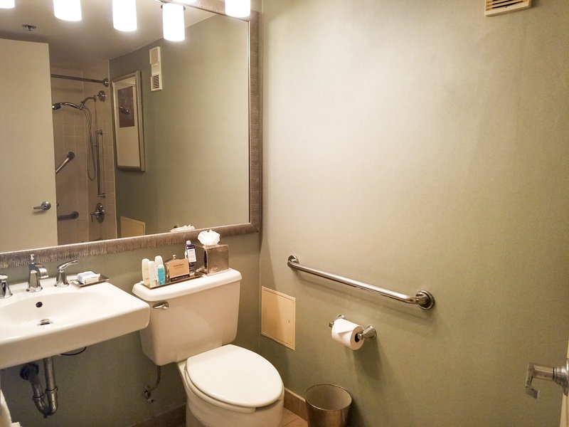 Omni Corpus Christi Hotel-Accessible Deluxe Bathroom<br/>Image from Leonardo