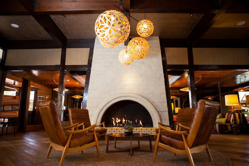 The Garland (Beverly Garland) - Lobby Fireplace <br/>Image from Leonardo