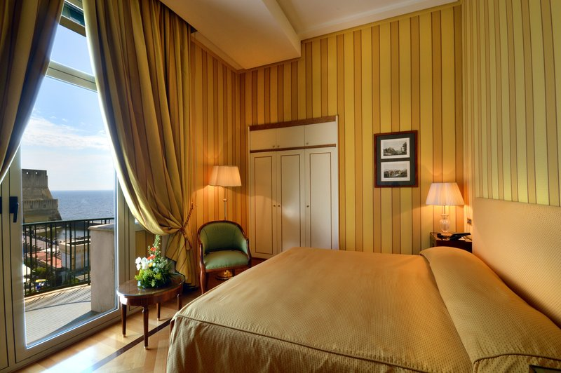 Grand Hotel Vesuvio Naples-Deluxe Seaview Queen Bedroom<br/>Image from Leonardo