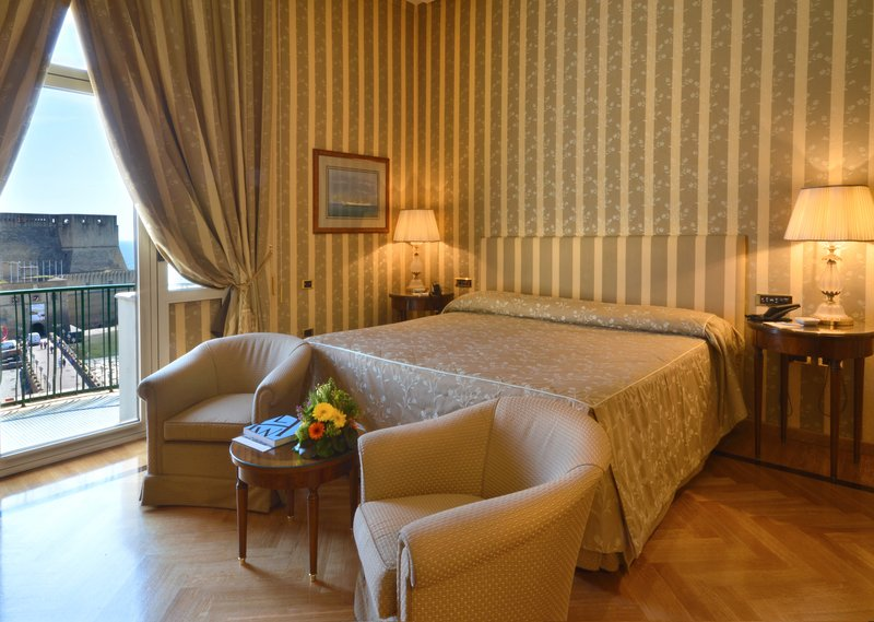 Grand Hotel Vesuvio Naples-Deluxe Seaview King Bedroom <br/>Image from Leonardo