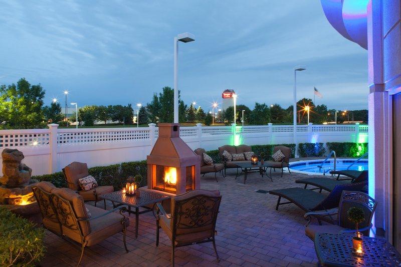 Hilton Garden Inn Riverhead-Pool at Night<br/>Image from Leonardo