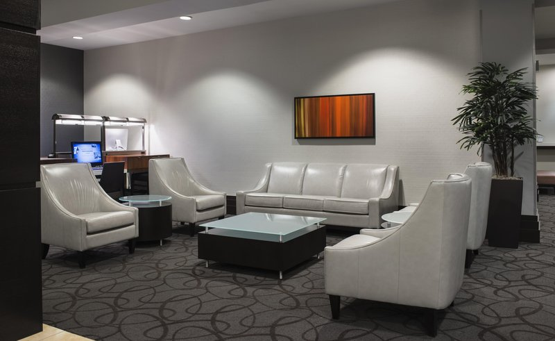 Hilton Winnipeg Airport Suites-Lobby Area<br/>Image from Leonardo
