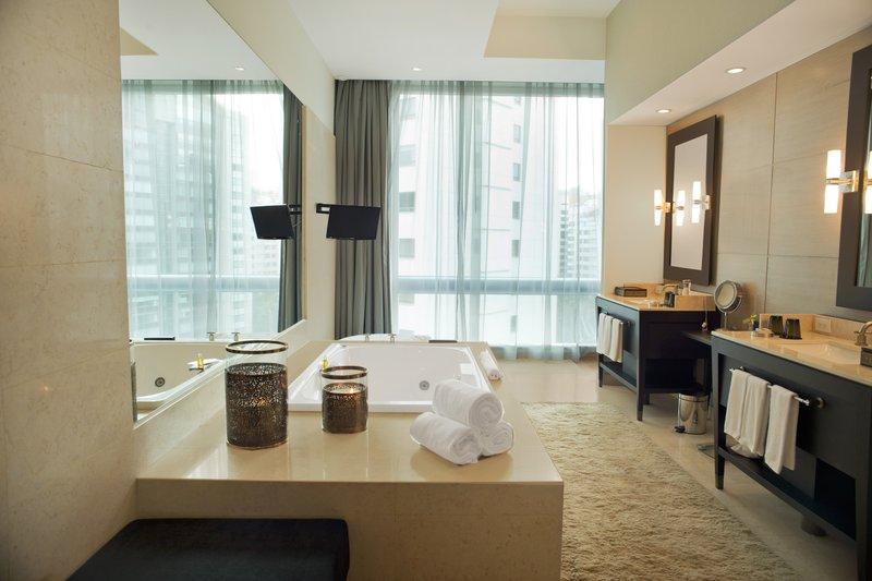 Live Aqua Urban Resort Mexico-Sol Presidential Suite Bathroom<br/>Image from Leonardo