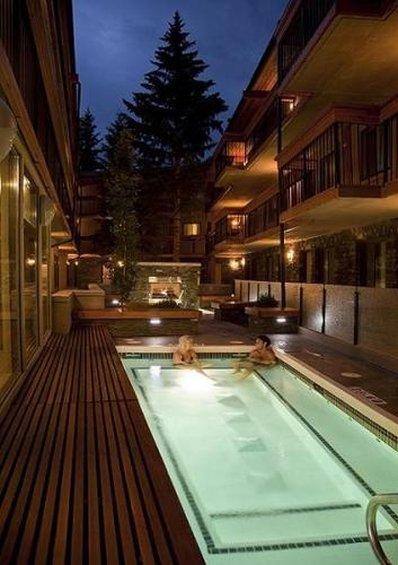 Banff Aspen Lodge-Pool view<br/>Image from Leonardo