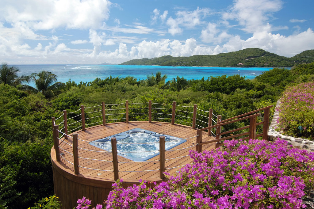 Young  Island  Resort-Jacuzzi at Five Bedroom Estate Residence<br/>Image from Leonardo