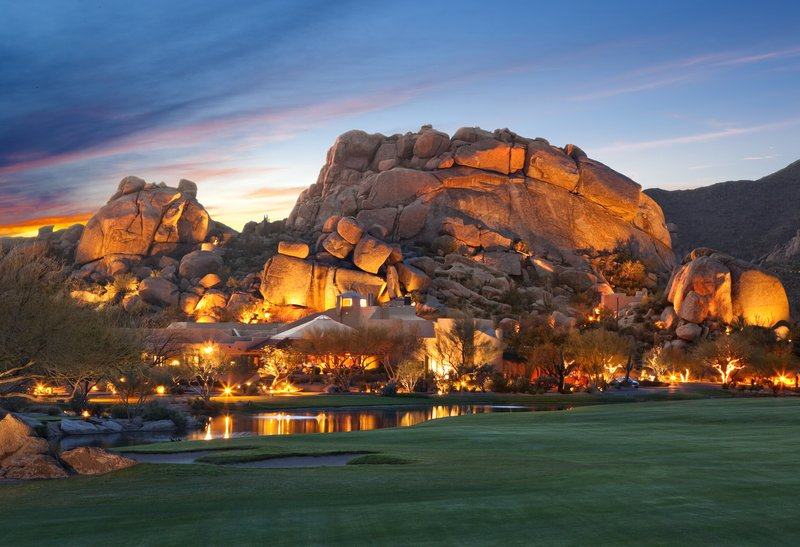 Boulders Resort & Spa, Curio Collection by Hilton-Boulders Resort & Spa - Boulder formation at dusk<br/>Image from Leonardo
